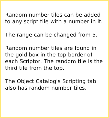 Random Numbers, an Etoys Quick Guide